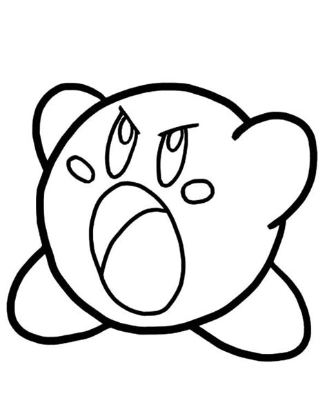 Sword Kirby Coloring Pages by Sword Coloring Pages Free Printable Kirby For
