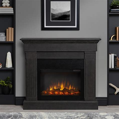 gray fireplace real devin 36 in electric fireplace in white 1220e