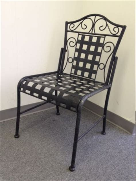 Black Iron Patio Chairs Mandalay Iron Patio 2 Bistro Chairs In An Antique Black Finish Patio Furniture Buy