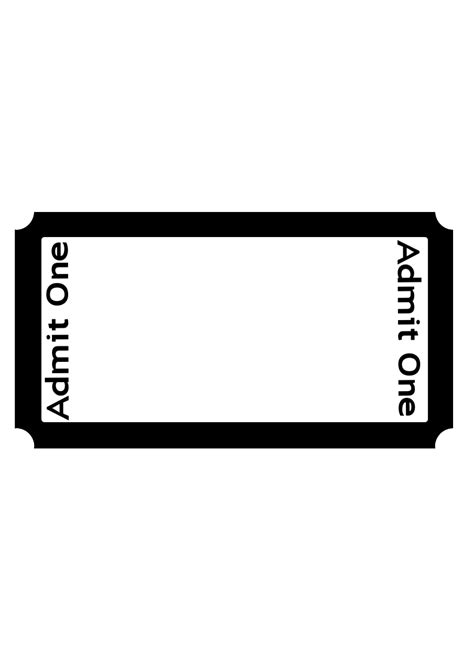 blank admit one ticket template blank admit one ticket template