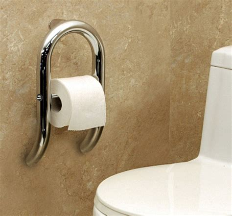 handicap grab bars for bathrooms combination grab bar and toilet paper holder is just one