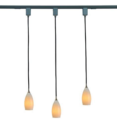 Hanging Track Lighting Fixtures Royal Pacific 7916wh Ba 3 Light Track Pack With White Glass Pendant Lights 4 Brushed