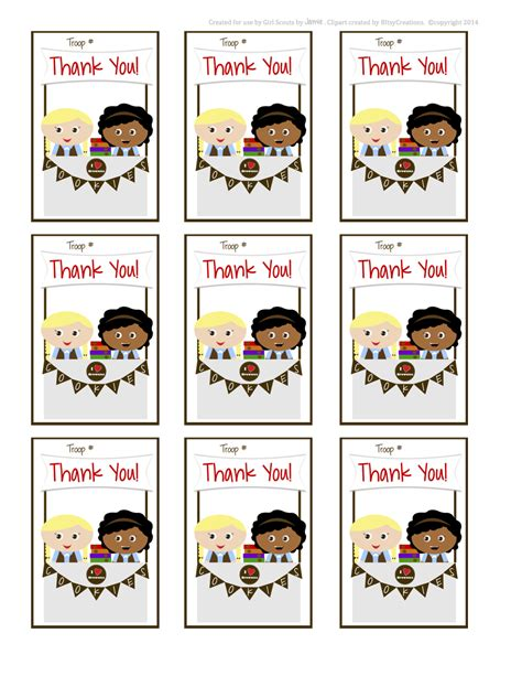 printable thank you cards girl scout cookies my fashionable designs girls scouts brownies thank you