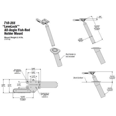 magma boat grill rod holder mount magma t10 355 fish rod holder single mount heavy duty
