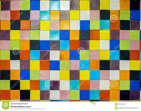 random color colorful tiles mosaic random color stock photo