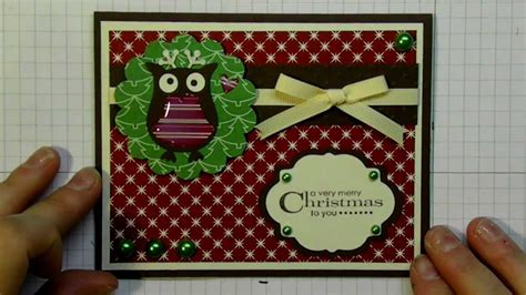 how to make a card using cricut templates card 2012 series using owl punch and