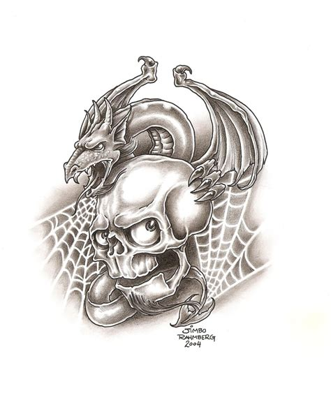 dragon and skull tattoo designs tribal tattoos for the cool collection ideas