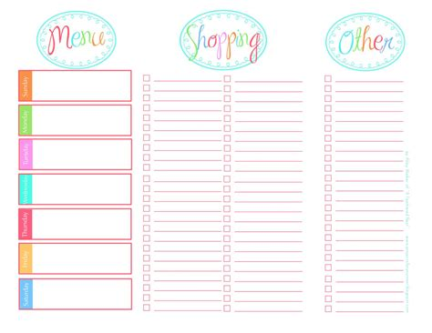 shopping list template printable then i just started