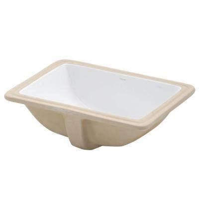 white rectangular undermount bathroom sink decolav classically redefined rectangular undermount