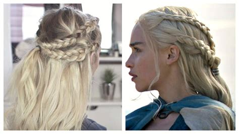 how to do khaleesi braids game of thrones hair tutorial daenerys targaryen 183 how to