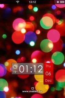 colour clock themes download ls hd bokeh colors clock iphone theme apple theme