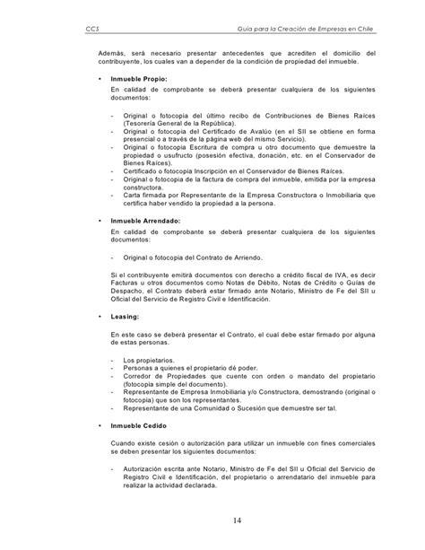 carta de presentacion para propuesta economica gu 237 a para la creaci 243 n de empresas en chile