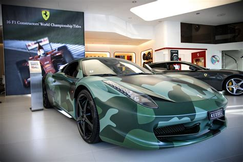 camo ferrari 458 camo ferrari 458 italia sells for 1 1 million at aids