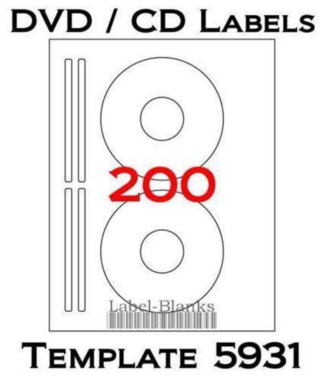avery dvd template cd labels ebay