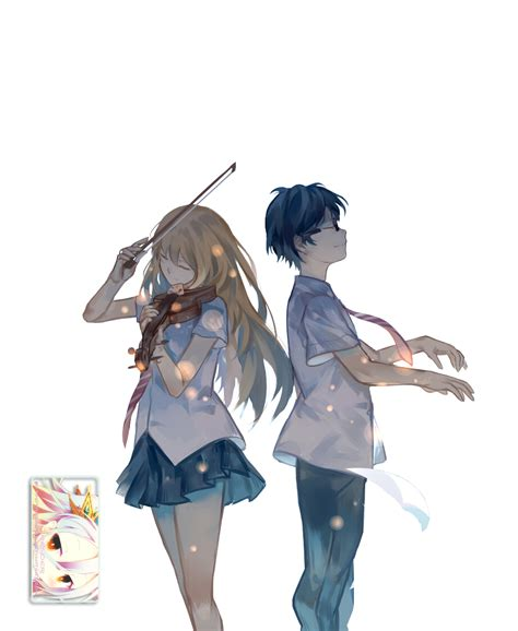 anime girls anime sunset shigatsu wa kimi no uso kaori arima shigatsu wa kimi no uso render by totoro