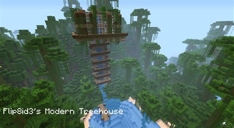my tree house modern treehouse minecraft project
