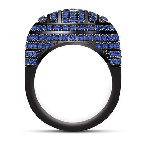Golden Black Sapphire 18 10ct 4 10ct blue sapphire black gold finish 925 silver dome