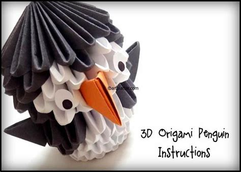 3d origami penguin tutorial youtube 17 best images about 3d origami on pinterest origami