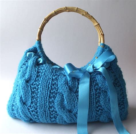 knitting bag pattern knitting bag pattern handbag with lace ribbon lucia bag