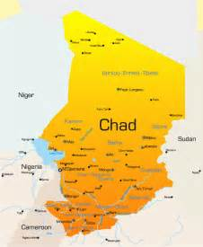 Chad Africa Map by Chad Africa Map