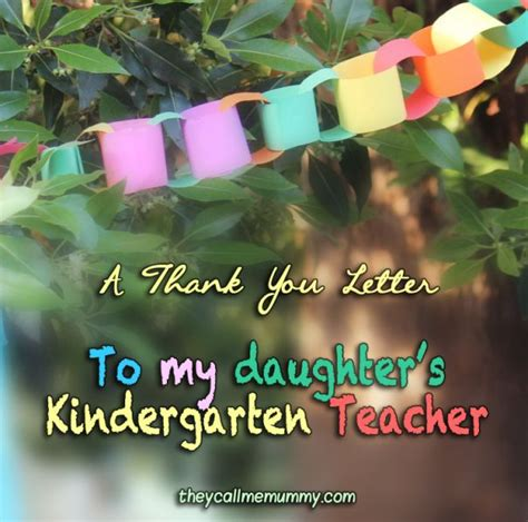 Thank You Letter To Kindy A Thank You Letter To My Child S Kindergarten Gratitude Parenthood My