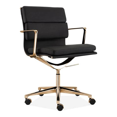 black and gold desk chair cult living black and gold back pad office
