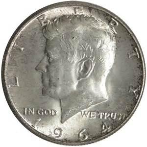 1964 90 silver kennedy half dollars average circulated 1