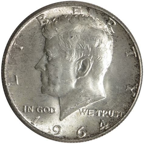 1964 90 silver kennedy half dollars average circulated 1