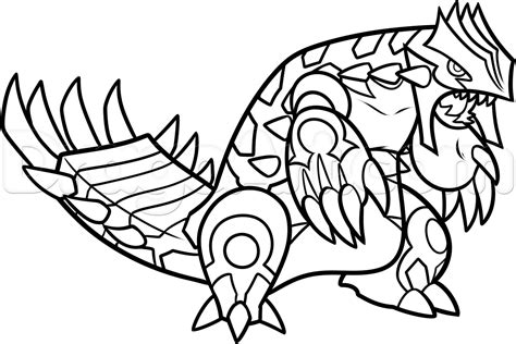 pokemon coloring pages groudon and kyogre step 15 how to draw primal groudon