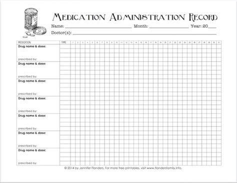Free Printable Chart For Tracking Medicines Interesting Pinterest Free Printable Chart Medication Administration Record Template Free