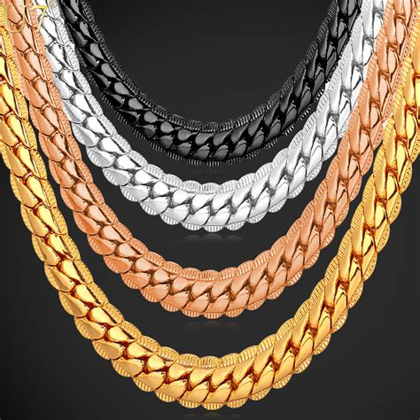 where to buy chain for jewelry aliexpress buy 18k real gold plated necklace with