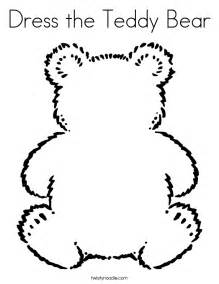 teddy bear clothes colouring pages