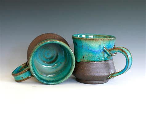 Handmade Ceramic Coffee Cups - pair of coffee mugs handmade ceramic cups ceramic stoneware