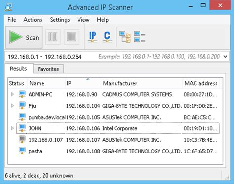 ip scanner advanced ip scanner
