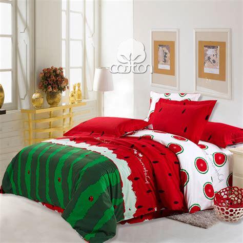 nature bedding hot sale watermelon 100 nature cotton 4pcs bedding set