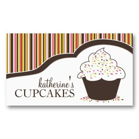 cupcake business card template whimsical bakery cupcake business cards business cards