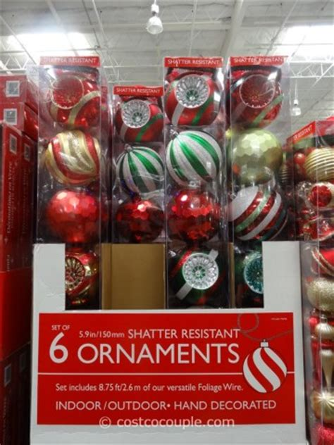 when to buy christmas decorations at costco large shatter resistant ornaments