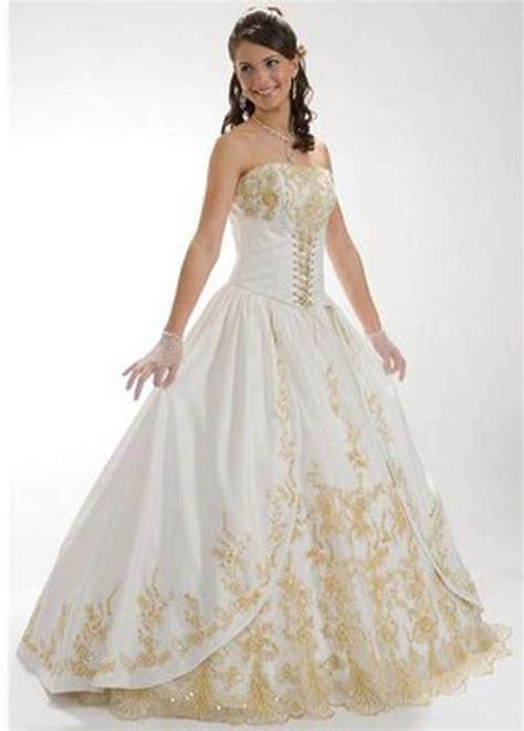 beautiful white wedding dresses marne s beautiful white and gold wedding dresses