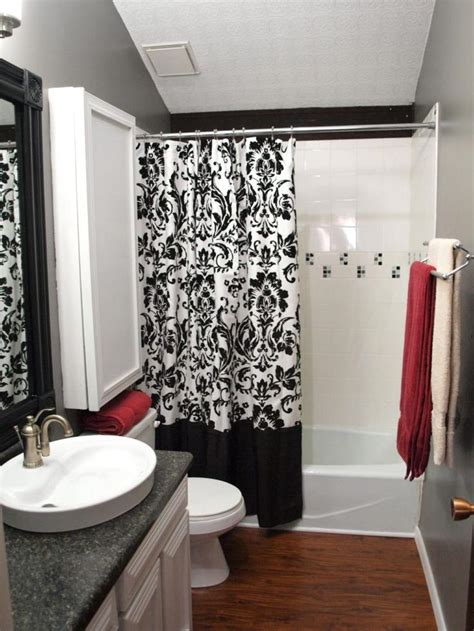 red bathroom decor ideas  pinterest grey