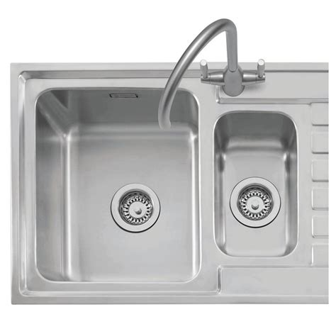 inset stainless steel kitchen sinks caple vanga 150 stainless sink sinks taps com