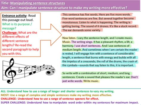 essay structure resources manipulating structure and punctuation for creative