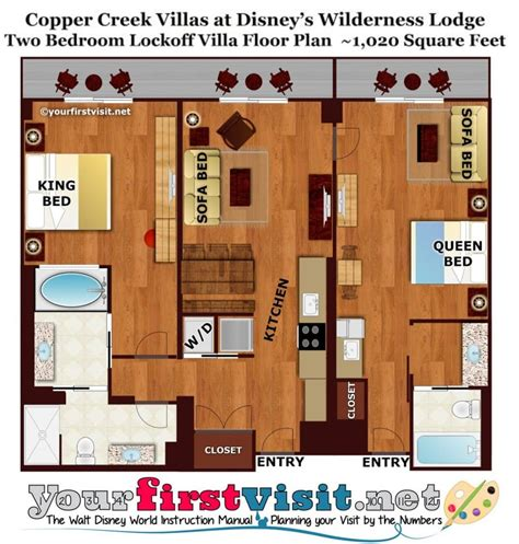 Disney Vacation Club Boardwalk Villas Floor Plan