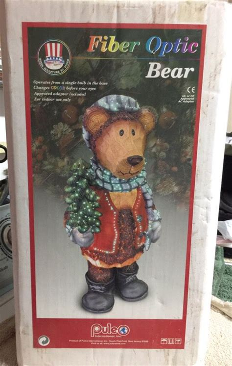 puleo  fiber optic christmas bear  sale