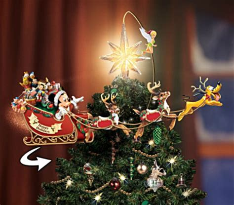 rotating christmas tree topper disney illuminated rotating tree topper mickey fix