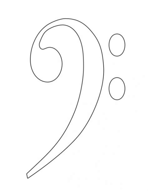 Treble Bass Clef Coloring Pages Treble Clef Coloring Page