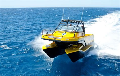 boat with suspension nauti craft s boat has hydraulic suspension for a smoother