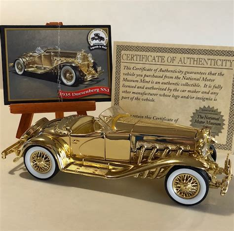 Gold Plated Cars For Sale by National Motor Museum 24k Gold Plated Antique Car