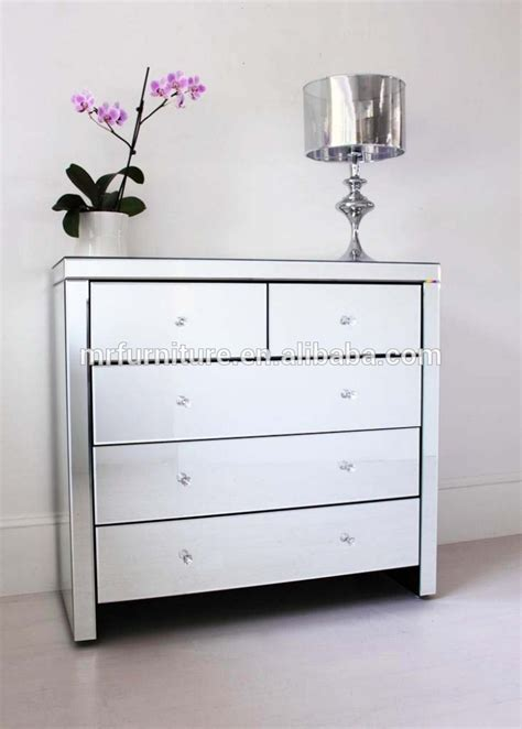 Venetian Stlye Mirrored Drawer Chest Dresser Buy Mirrored Bedroom Dresser