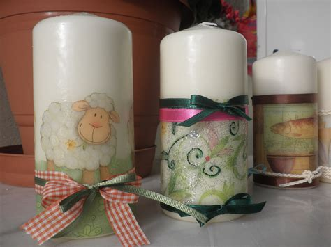 decoupage candele decoupage candles my creations decoupage