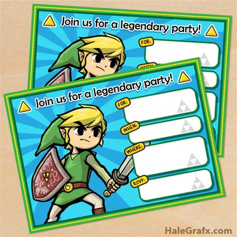 Free Printable Zelda Birthday Invitations | free printable legend of zelda birthday invitation